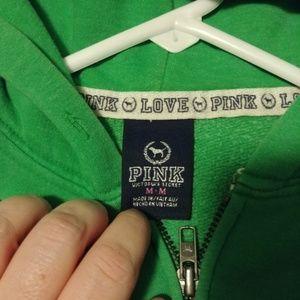 PINK Victoria's Secret Other - Victoria's Secret Green Sequin Love Pink Hoodie